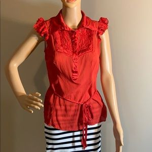 Bebe silk shirt size medium